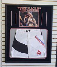 Khabib The Eagle Nurmagomedov Signed Autographed UFC MMA SHORTS Framed