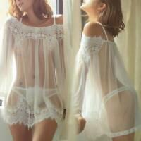 Lady Women's Lingerie Lace Dress Babydoll Underwear Nightwear Sleepwear G-string