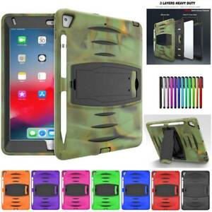 For iPad 9.7 2017/2018/ 10.2 2019 10.5  Rugged Shockproof Stand Case Hard Cover
