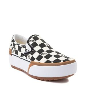 Vans Classic Slip On Stacked Checkerboard Men's 3.5 Women's 5  NO BOX TOP
