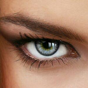 Jahres Farbige Kontaktlinsen SUNNY GRAY - (+/- 0.00 ohne Dioptrien)