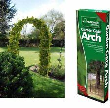 Kingfisher 136x38x240 cm Garden Arch - Black/Bronze