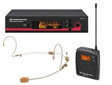 Sennheiser EW172-G3 Wireless Bodypack System w/ HS-12 Tan Dual Earset Microphone
