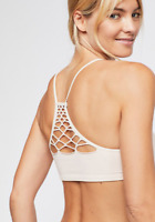 NEW Free People Intimately Seamless Baby RacerBack Bra Ivory Sz XS/S-M/L $26.49