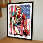 Larry Bird Boston Celtics Basketball Sports Poster Print Wall Art 18x24