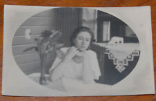 LATVIA WOMAN PHOTO 1930s PORCELAIN ELEPHANTS