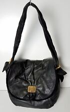 Juicy Couture 100% Genuine Leather Bag Purse Tote Black