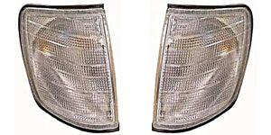Mercedes E class W124 Sedan Wagon Coupe Corner Lights PAIR WHITE CLEAR 1985-1995