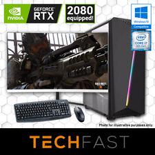 "Intel i7 8700 RTX 2080 8GB 240GB SSD/2TB HD 16GB RAM 27"" 144Hz Gaming Bundle: LC"