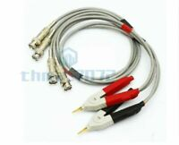 LCR Meter Test Leads Clip Kelvin Wires With 2 BNC per Channel (Red + Black)