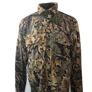 VTG Cabela's Camo Advantage Flannel  Camouflage Shirt Men's L Tall RealTree