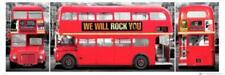 London Bus Triptych Panorama Photo Art Print Poster 36x12