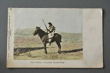 R&L Postcard: Cree Indian Canadian North west on Horse