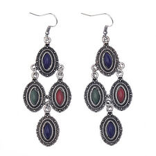Women's Vintage Fashion Bohemian Boho Style Colorful Resin Drop/Dangle Earrings