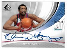 ELVIN HAYES 2005 UPPER DECK SP GAME USED AUTO AUTOGRAPH CARD #16/100!