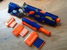 Nerf Longstrike CS-6 Sniper Rifle  + Barrel Extension + Ammo And Mags Bundle
