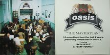 OASIS 1998 The Masterplan 2 sided promo poster/flat Flawless New Old Stock