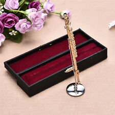Mini Flute Boxed Top Grade Gift Mini Musical Instrument Model Golden