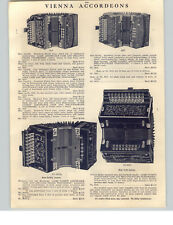 1910 PAPER AD 4 PG Majestic Acme Patent Vienna Model Accordeons Magdeburger