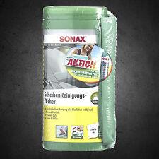 SONAX Scheiben Reinigungstücher Box 412041 inkl. Microfasertuch PLUS Aktion
