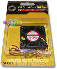 Evercool 40mm x 20mm 5 Volt 3 pin Ball Bearing Fan EC4020M05CA Retail Packaged