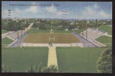 Postcard SIOUX CITY Iowa/IA  Public School Football Stadium view 1942