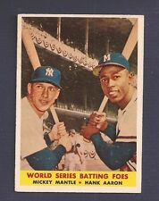 1958T #418 MANTLE/AARON (BATTING FOES)   **GOOD VALUE**