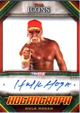 TNA Hulk Hogan ICONS 2010 Hogangraph GREEN Authentic Autograph Card SN 18 of 25