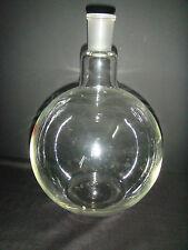 5000ML,1 Neck,24/40,Plat Bottom Glass Flask,5L,Lab Chemistryl Reaction Bottle