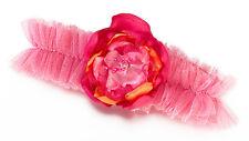Hot Pink & Orange Tulle Garter bridal garter Bride wedding garter Prom
