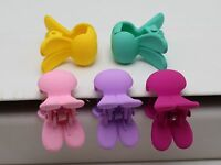 20 Mixed Color Rubber Tone Plastic Cute Bunny Rabbit Hair Claw Clips Clamp 24mm