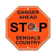 NFL Cincinnati Bengals Stop Sign Room Bar Decor 12 x 12