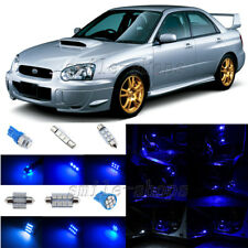 5pcs Blue LED Interior Lights Package Fit For 2002-2003 Subaru Impreza WRX STI