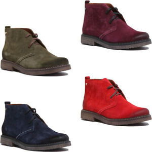 Justin Reece Womens Premium Suede Casual Desert Boots In Navy Sizes UK 3 - 8