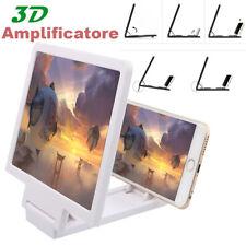 Portatile Film Video Ingranditore Nero Universale 3D Telefono Schermo Amplificatore,Retrattile Amplificatore,Cellulare Schermo Proiettore HD Ingradimento