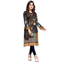 Plus Size Women Indian Kurti Pakistani Kurta Cotton Dress Digital Print Tunic