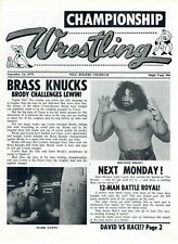 Dallas Wrestling Program: Bruiser Brody, Mark Lewin, The Spoiler