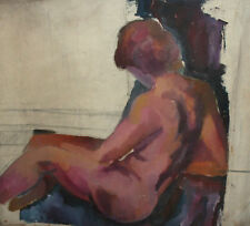 Antique large 37 '' oil painting nude