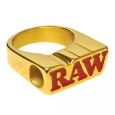 More details for raw rolling papers smoke ring 24k gold plated - cone cigarette holder apparel