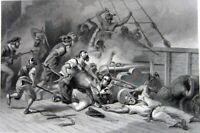 Stephen Decatur BARBARY WARS Tripoli African Pirates ~ 1860 Art Print Engraving