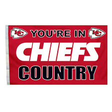 Kansas City Chiefs 3x5 Country Design Flag [New] Nfl Banner Sign Fan Wall House