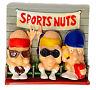 Vintage SPORT NUTS Refrigerator Magnets Memo Buddies 4 Piece Set Giftco