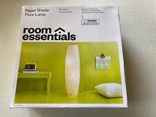 Paper Floor Lamp Gray (Lamp Only) Room Essentials - NEW