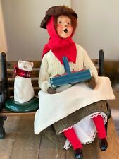 New ListingByers Choice Retired 1991 Apple Lady with Red Stockings and 1988 singing cat