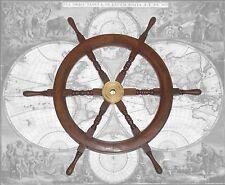 Hochwertiges Steuerrad, Schiffssteuerrad aus Hartholz, 78cm Durchmesser