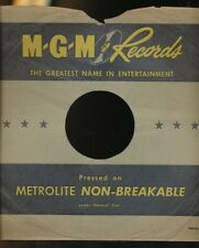 78 RPM Company Logo sleeves-POST-WAR- MGM  Metrolite