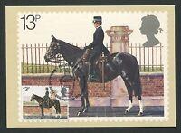 GB UK MK 1979 POLIZEI POLICE PFERD HORSE CHEVAL MAXIMUM CARD MC CM d5573