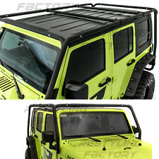 Cargo Roof Rack System Base+Top Cross Bar for 07-17 Jeep Wrangler 4 Door ONLY