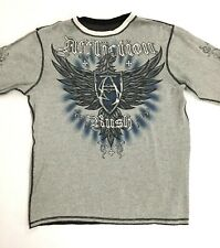 Affliction Rush GSP George St. Pierre Reversible 2XL Mens Thermal L/S Shirt