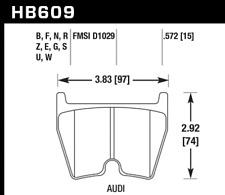 Hawk Disc Brake Pad Front for Lamborghini Gallardo, Audi R8, RS4 / HB609N.572